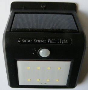 Lampada Solare da Parete con Sensore
